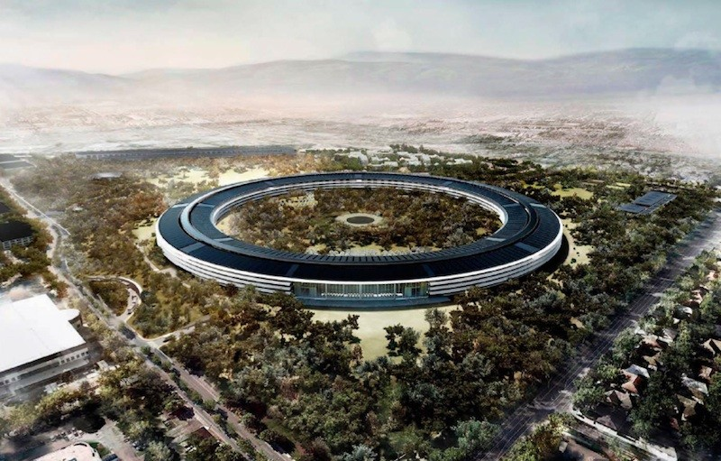 Apple Park In April Open Voor Werknemers