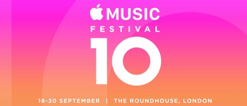 Aankondiging Apple Music Festival 10