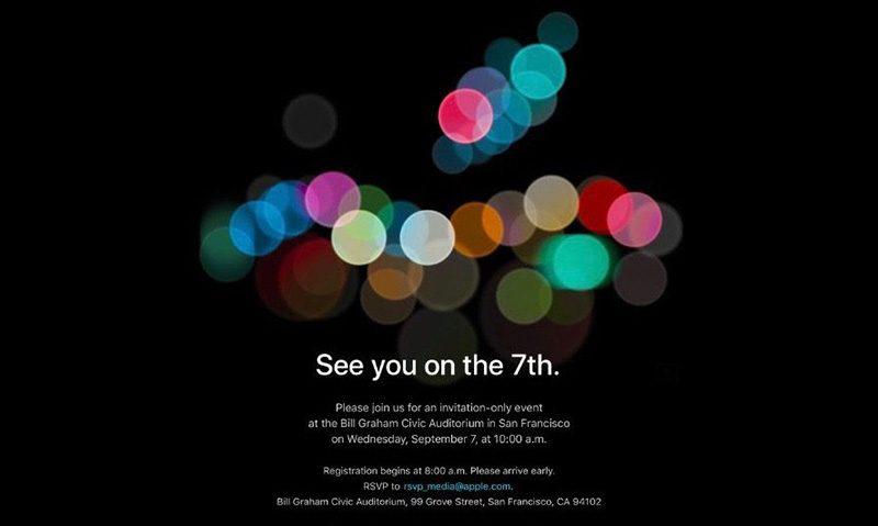 Woensdag 7 September Apple Event