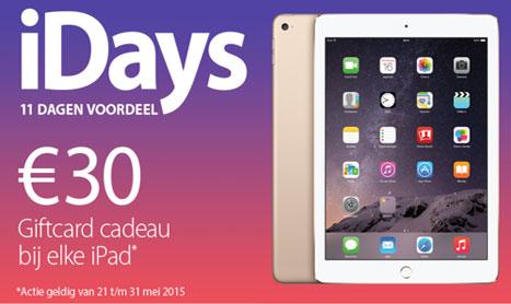 IDays: 11 Dagen Voordeel Bij De Apple Premium Resellers