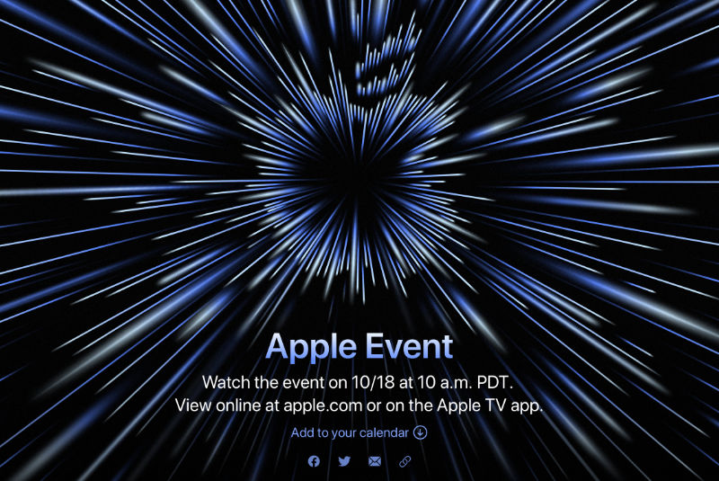 Apple Event Op Maandag 18 Oktober