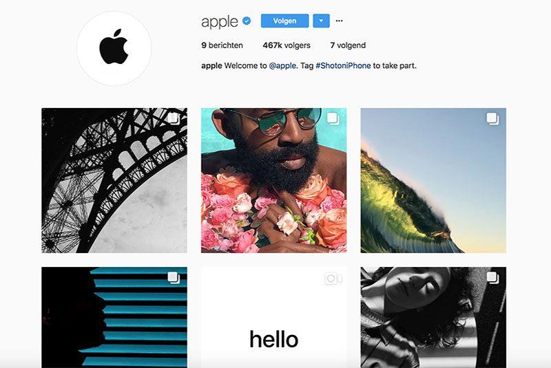 Apple Opent Nieuw Account Op Instagram