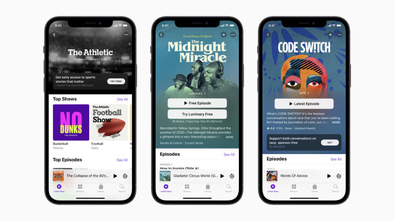 Apple Podcasts-abonnementen