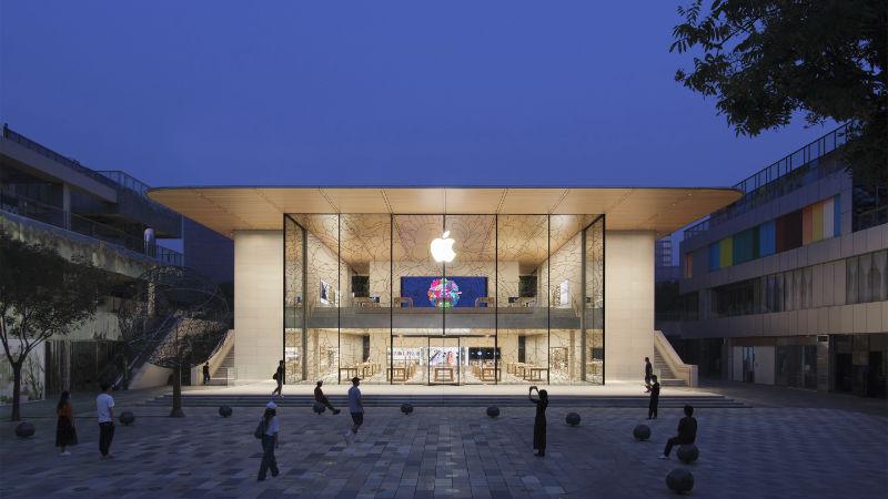Nieuwe Apple Sanlitun Vandaag Open