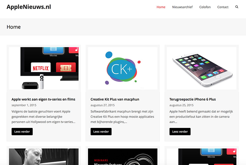 Nieuwe Vormgeving Voor AppleNieuws.nl